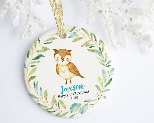 Owl Baby 1st Christmas Ornament - Ornament - GIFTABLE GOODIES