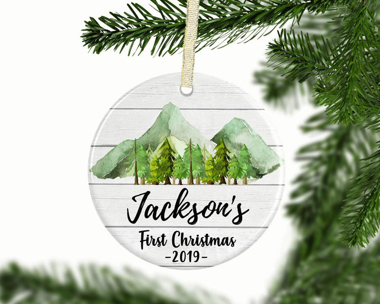 Personalized Baby Boy 1st Christmas Ornament - Ornament - GIFTABLE GOODIES