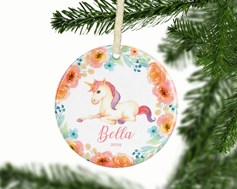 Personalized Unicorn Girl Keepsake Ornament - Ornament - GIFTABLE GOODIES