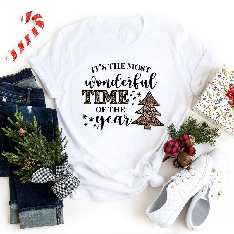 It's The Most Wonderful Time of the Year T-Shirt - Leopard