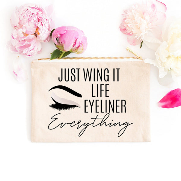 Just Wing It Life Eyeliner Everything Makeup Bag - Cosmetic Bag - GIFTABLE GOODIES
