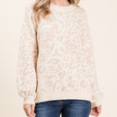 Love You A Latte Leopard Sweater