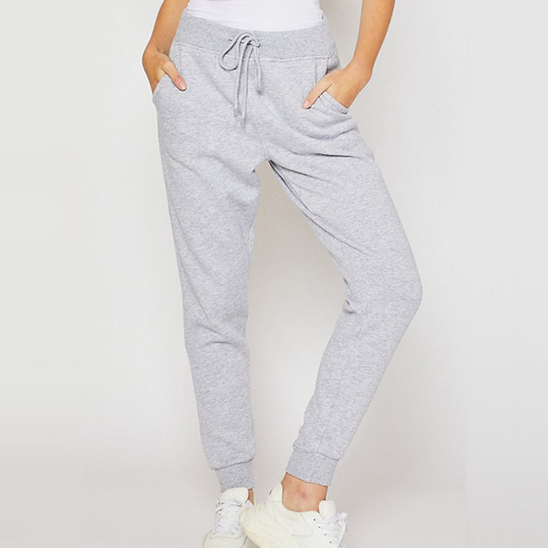 Let's Stay Home Heather Grey Joggers