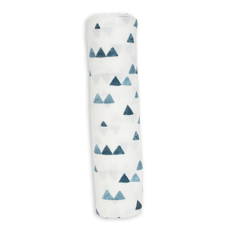 Navy Triangles Swaddle