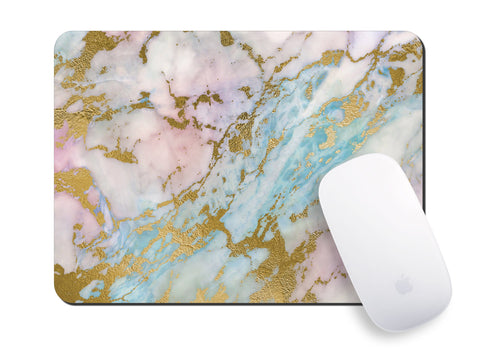 Marble Rainbow Mouse Pad