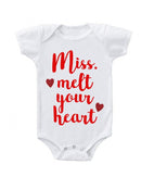 CLEARANCE - Miss Melt Your Heart Short Sleeve Bodysuit -  - GIFTABLE GOODIES