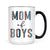 Half Leopard Mom of Boys Mug