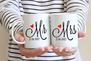 Personalized Mr and Mrs Mug Set - Mug Set - GIFTABLE GOODIES