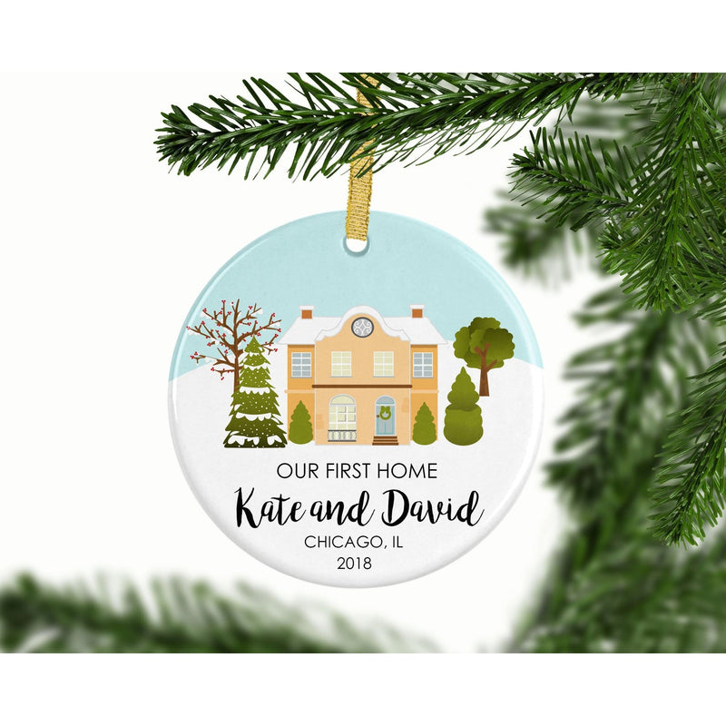 Our First Home Custom Ornament - Ornament - GIFTABLE GOODIES