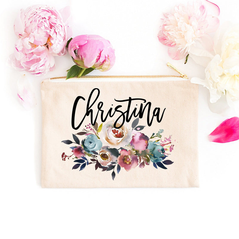 "Personalized Makeup Bag ""The Christina"" - Cosmetic Bag - GIFTABLE GOODIES"