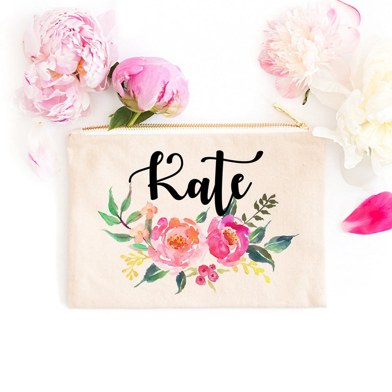 "Personalized Makeup Bag ""The Kate"" - Cosmetic Bag - GIFTABLE GOODIES"