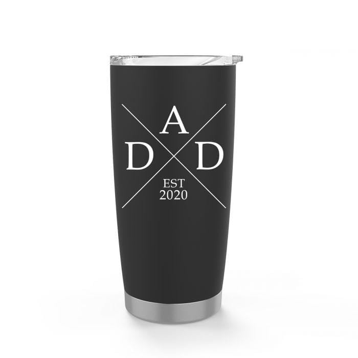 Personalized DAD Black Stainless Steel Tumbler - Tumbler - GIFTABLE GOODIES