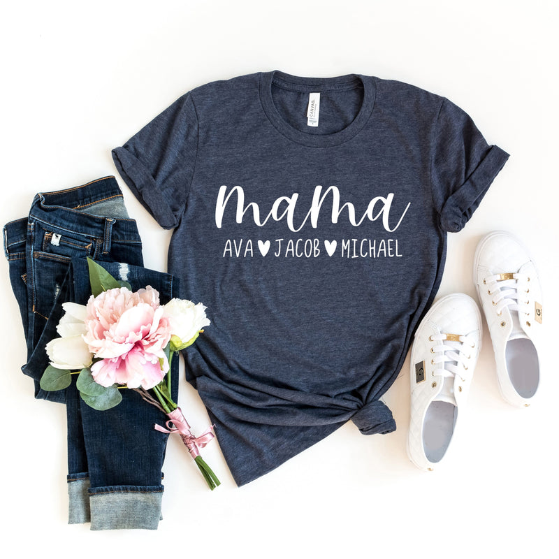 Mama T-Shirt - Personalized with Kids Names - T-Shirts - GIFTABLE GOODIES