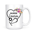 Personalized Nurse Stethoscope Mug - Coffee Mug - GIFTABLE GOODIES