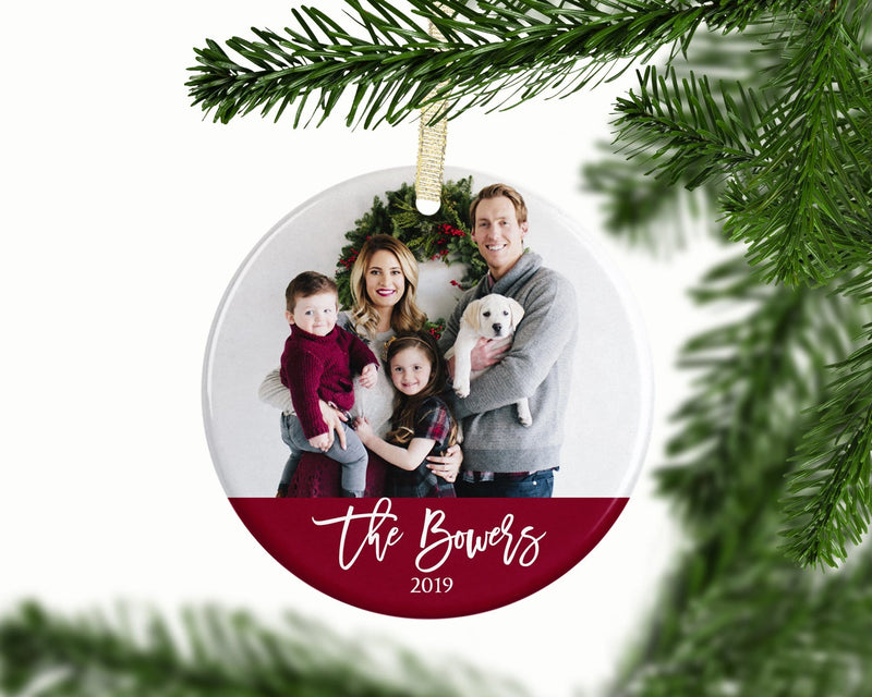 Personalized Christmas Photo Ornament - Ornament - GIFTABLE GOODIES
