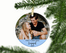 Personalized First Christmas Engaged Photo Ornament - Ornament - GIFTABLE GOODIES