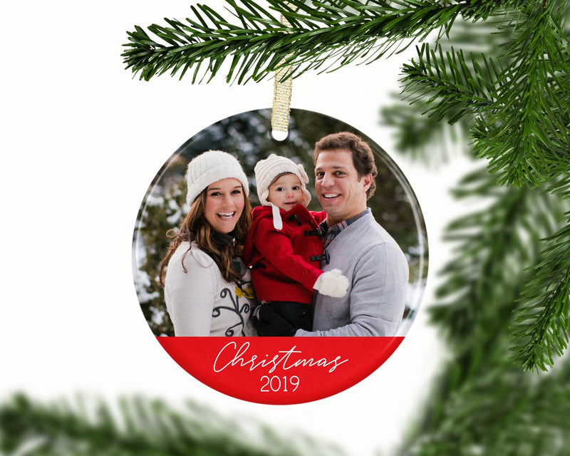 Custom Family Christmas Photo Ornament - Ornament - GIFTABLE GOODIES