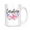 Personalized Name Mug (Floral 1) - Coffee Mug - GIFTABLE GOODIES
