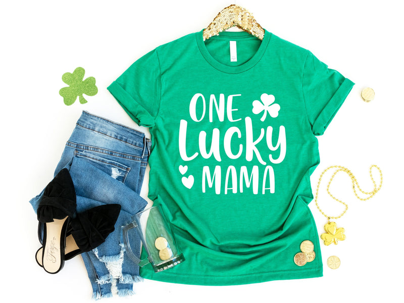 CLEARANCE - One Lucky Mama T-Shirt -  - GIFTABLE GOODIES