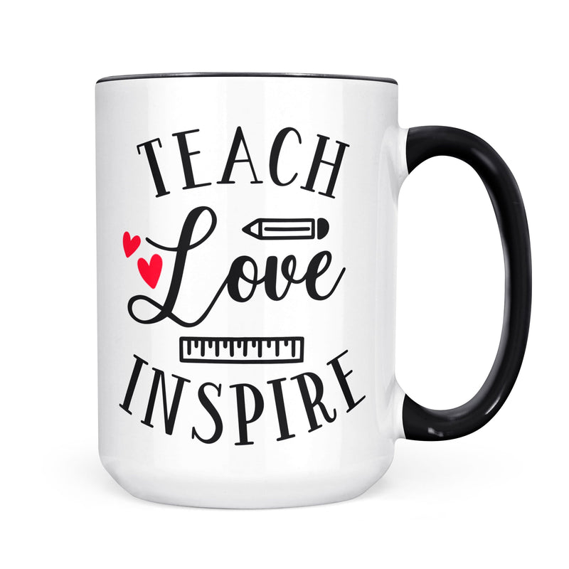 Teach Love Inspire Mug - Coffee Mug - GIFTABLE GOODIES