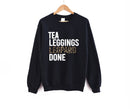 Tea Leggings Leopard Done Sweatshirt