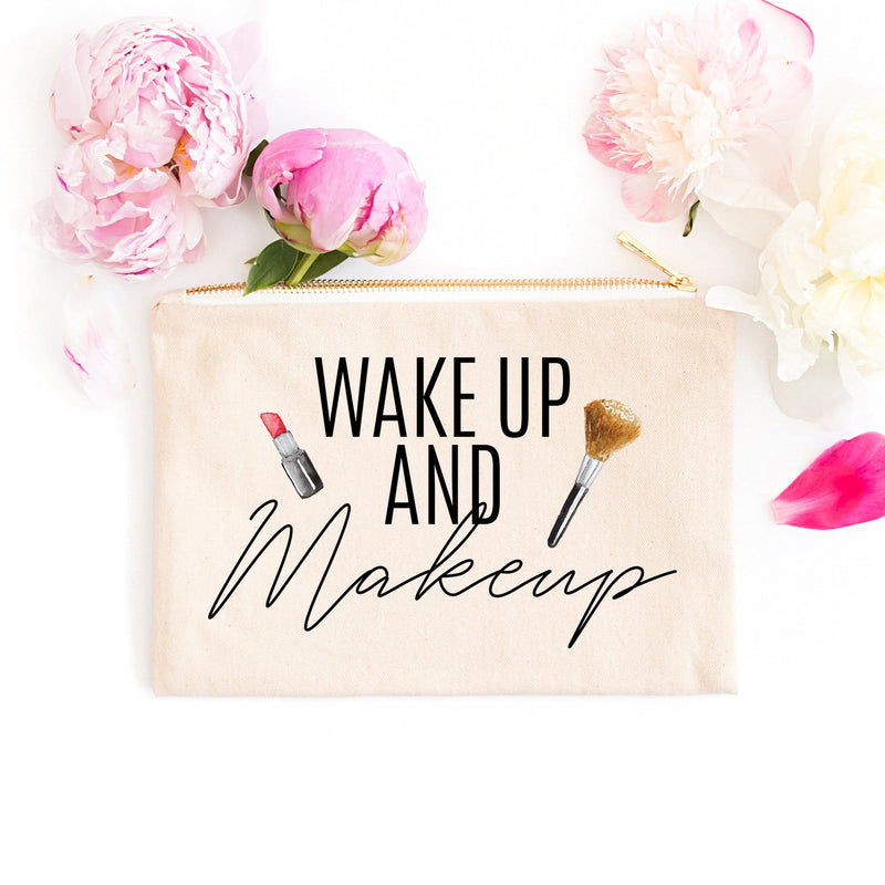 Wake Up and Makeup Cosmetic Bag - Cosmetic Bag - GIFTABLE GOODIES