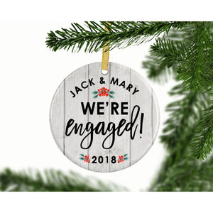 We're Engaged Custom Ornament - Ornament - GIFTABLE GOODIES