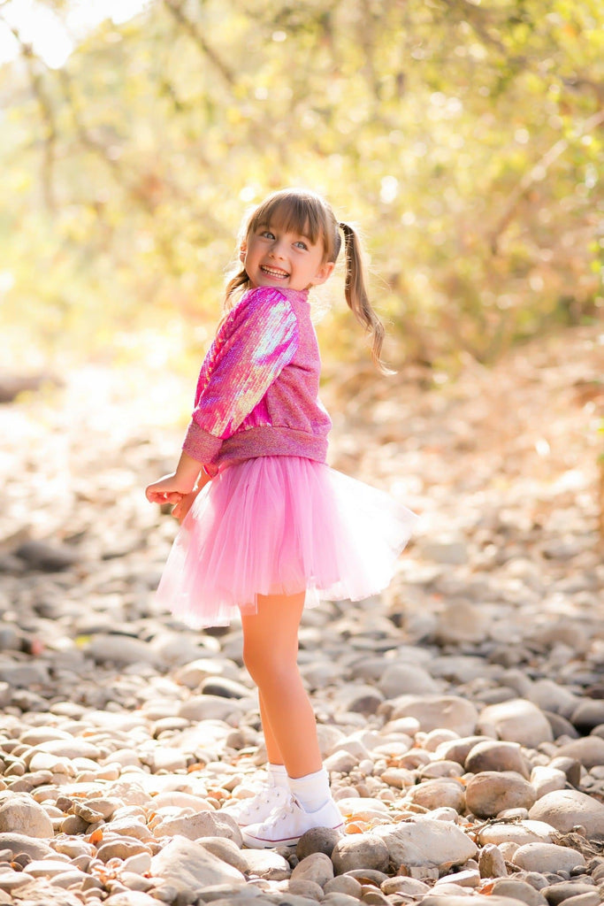 Pink Unicorn Tulle Skirt