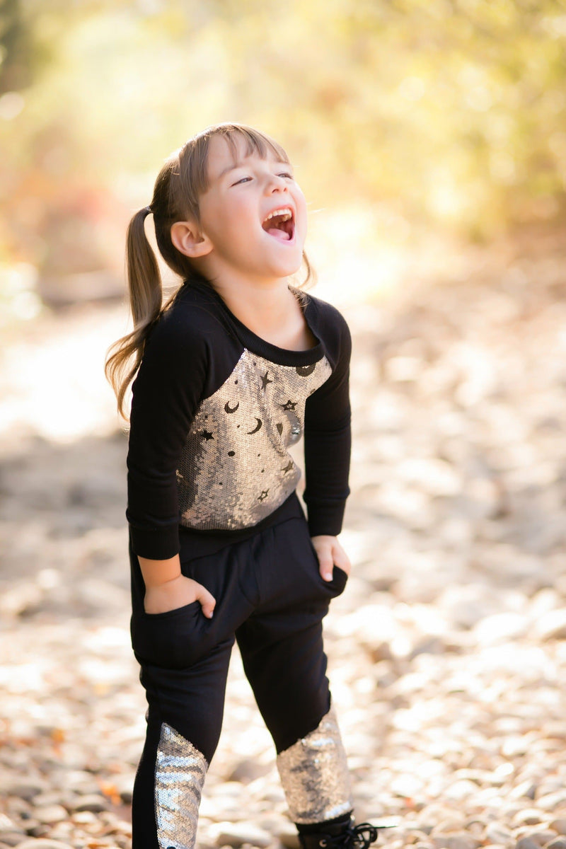 Moon & Stars Fleece with Sequins Sweatshirt