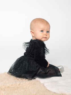 GLITTER VELVET ONESIE 2PC SET DRESS