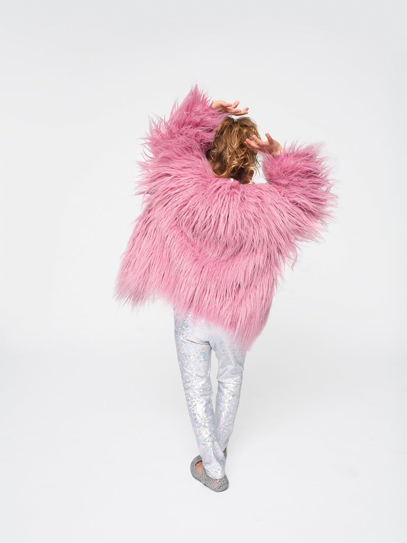 ROSEWOOD SHAG FUR COAT