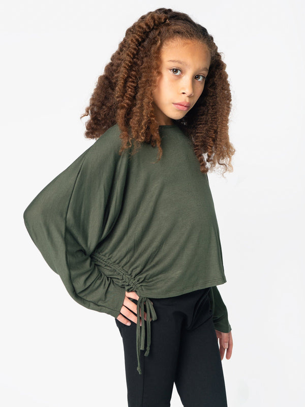 DOLMAN SLV TOP FT. DRAWSTRINGS