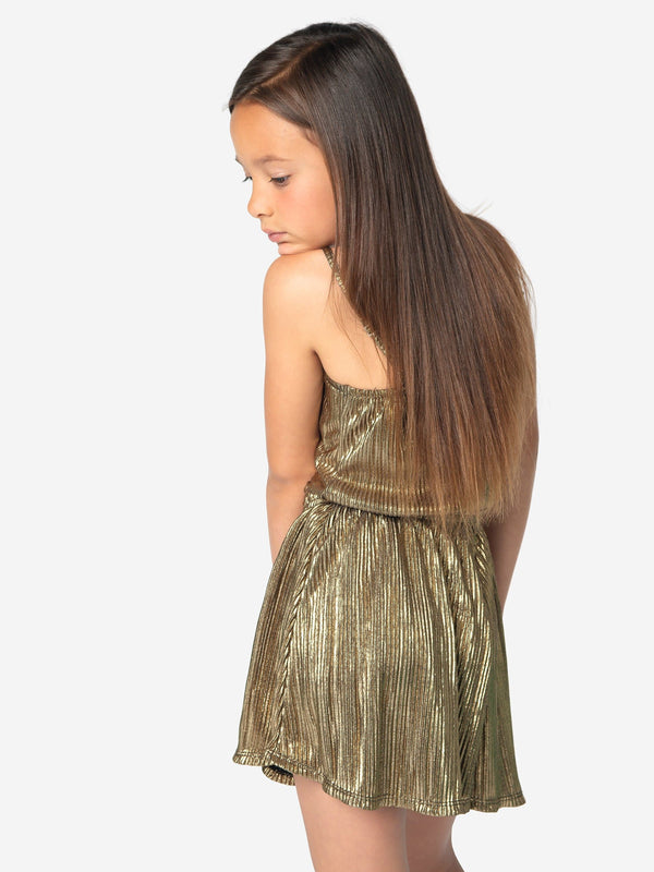 BODRE PLEATED FOIL ROMPER