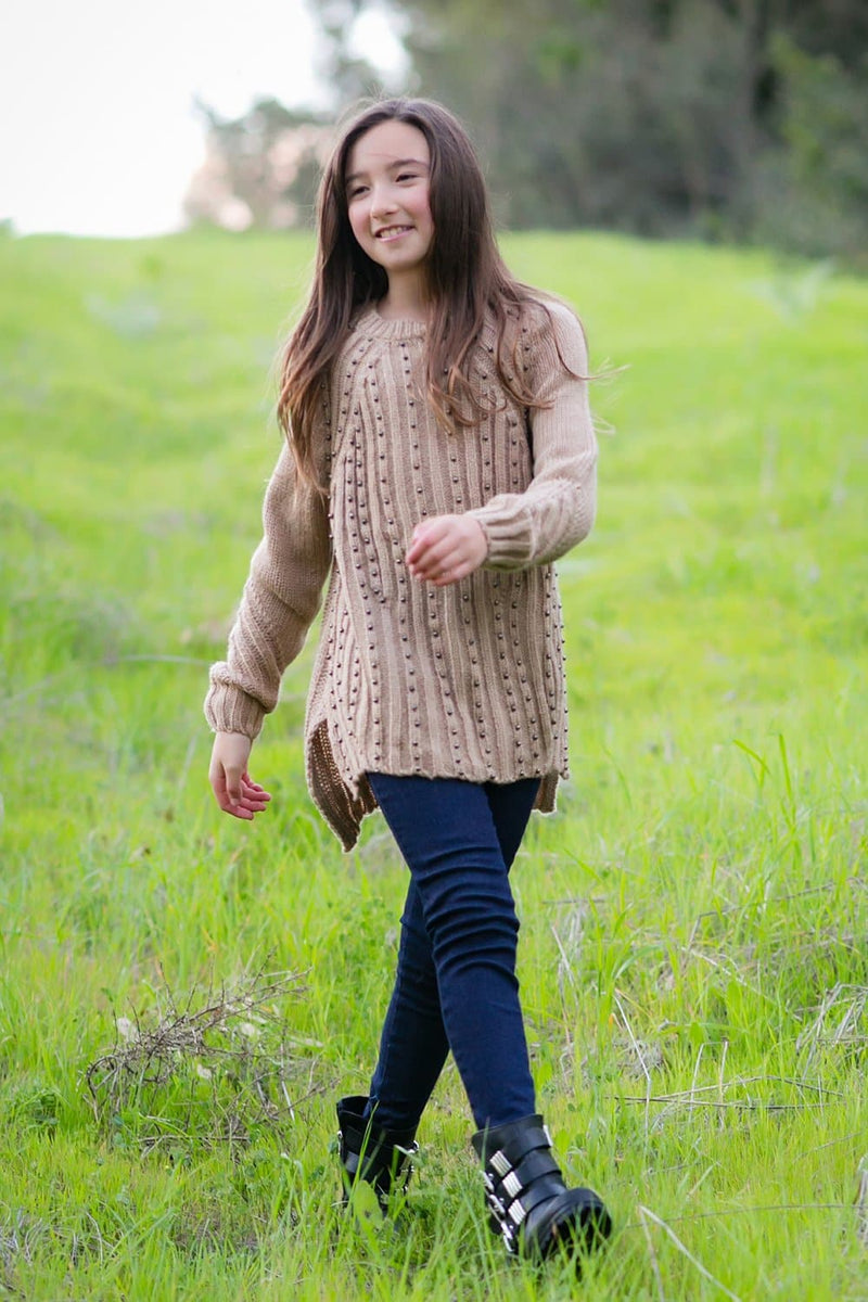 Knit Beaded Sweater