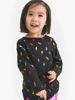 RAINBOW LIGHTNING BOLT AYMMETRICAL TUNIC