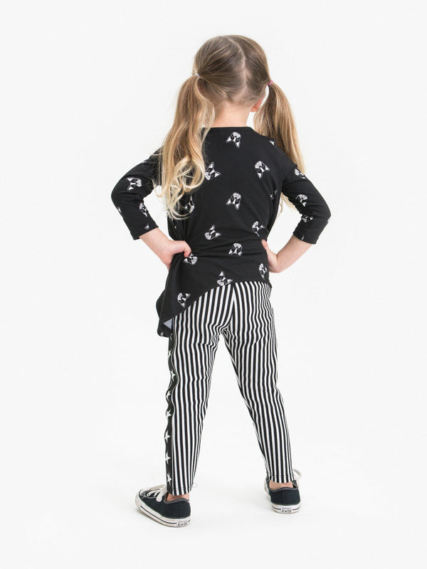 VERTICAL STRIPE LEGGING FT. STAR TAPE DECOR
