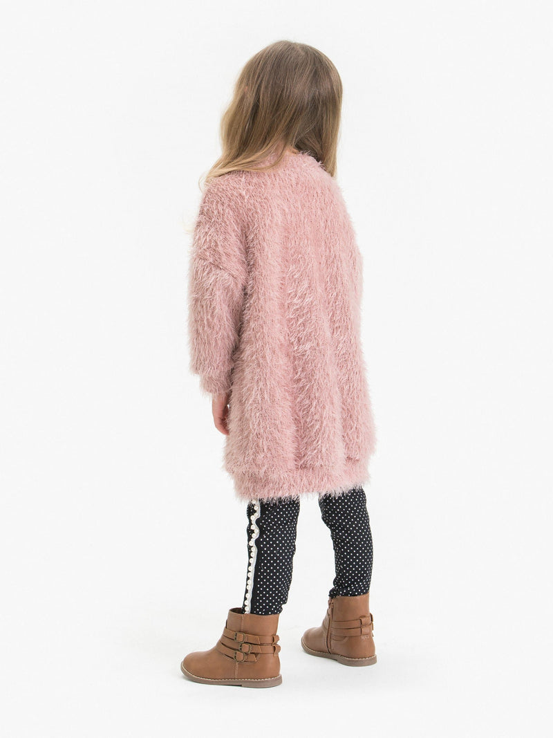 "SHAGGY TUNIC DRESS FT.""PEARLY FUZZY BEAR"""
