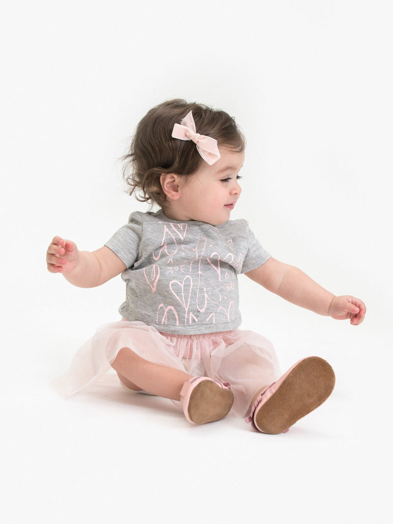 2PC SET: GRAPHIC TEE PARTNER W/ TUTU DRESS