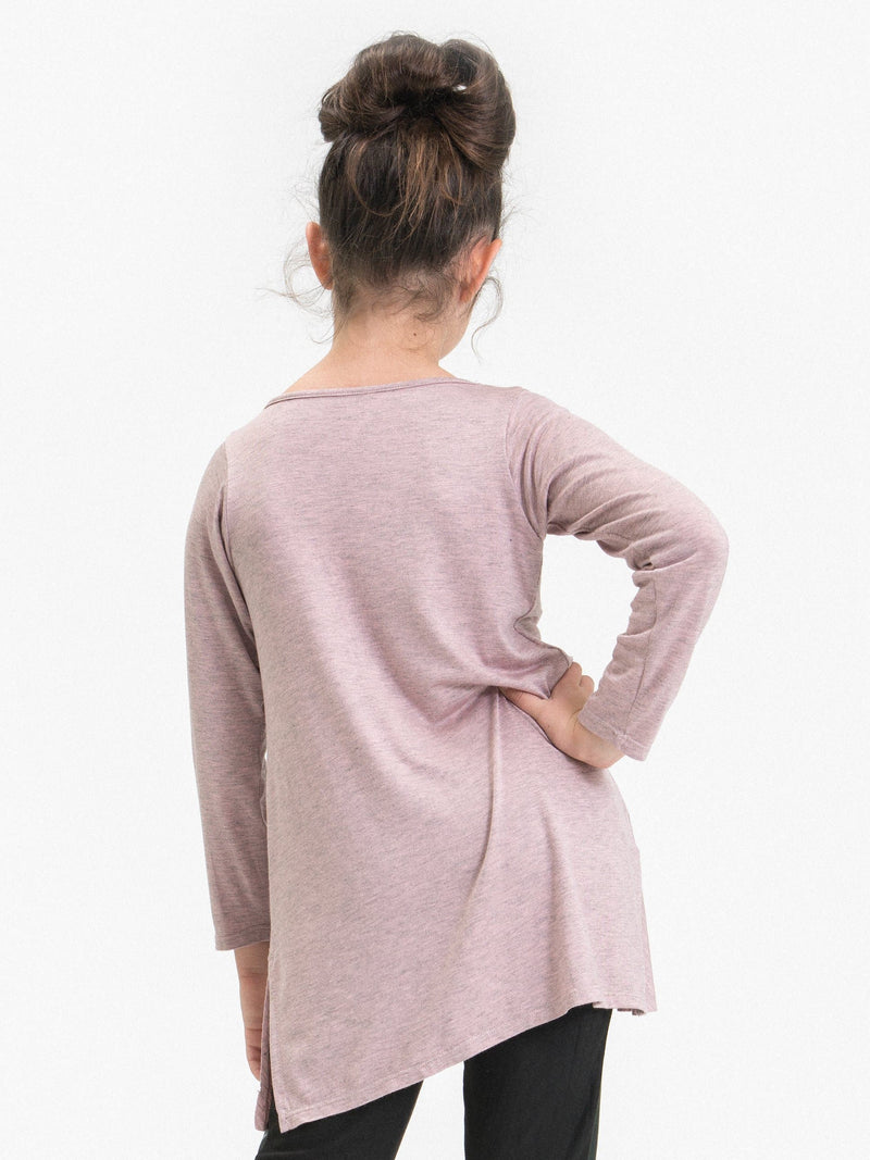 JERSEY TIERED TUNIC FT. CRISS CROSS DECOR
