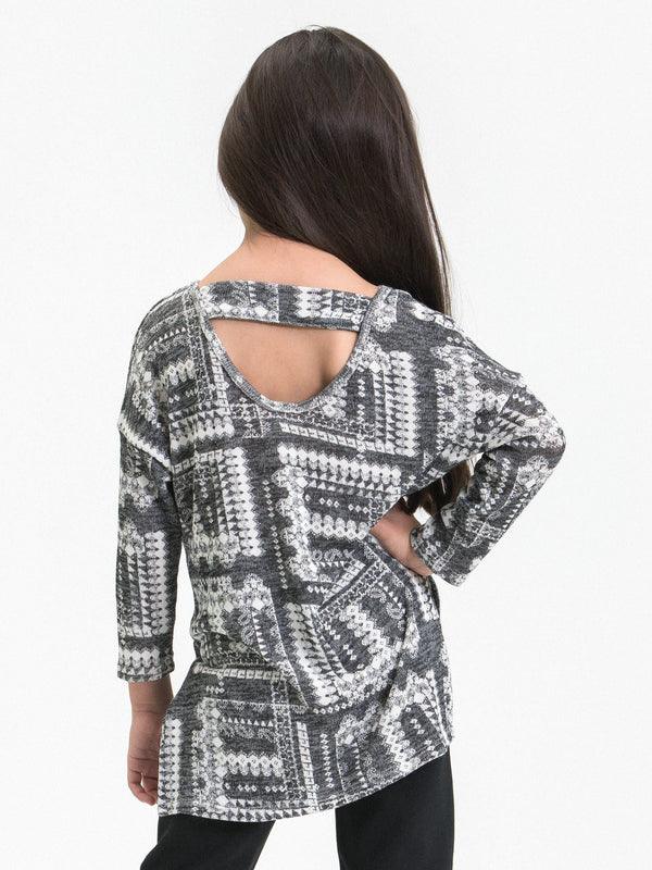 MURCIELAGO PRINT TUNIC FT. SIDE SLITS