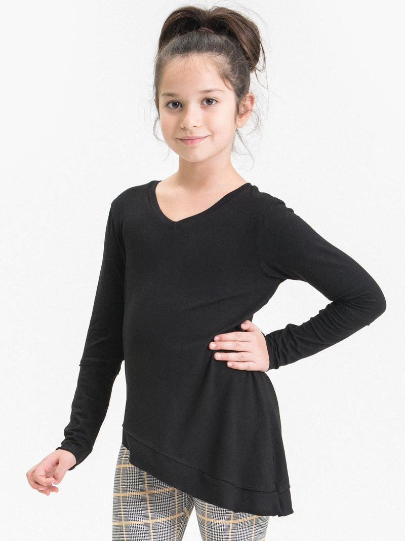 ASYMMETRICAL RAW EDGE TUNIC