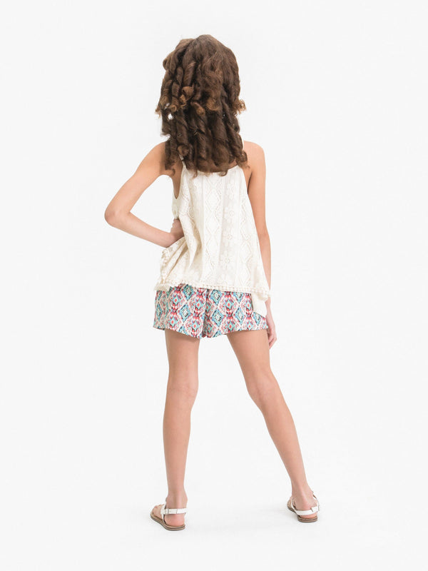 IKAT DIAMOND PRINTED PAPER BAG SHORTS