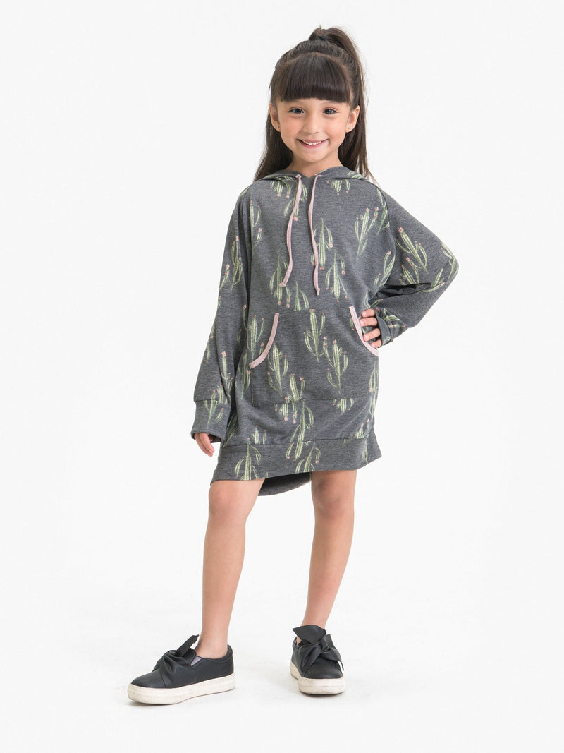 CACTUS DREAM HOODIE DRESS