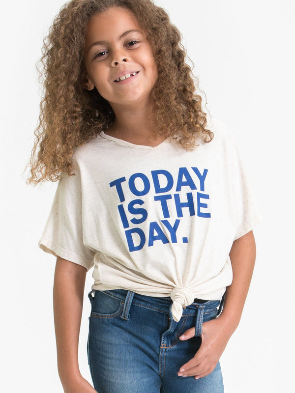 "DROP SHOULDER T-SHIRT FT. ""TODAY IS THE DAY"" GRAPHIC"