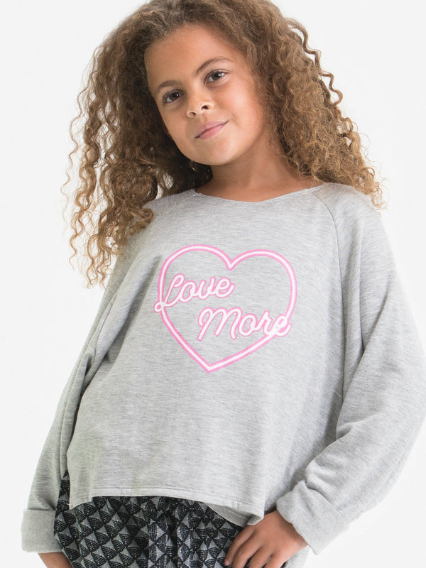 """LOVE MORE"" PULLOVER SWEATSHIRT"
