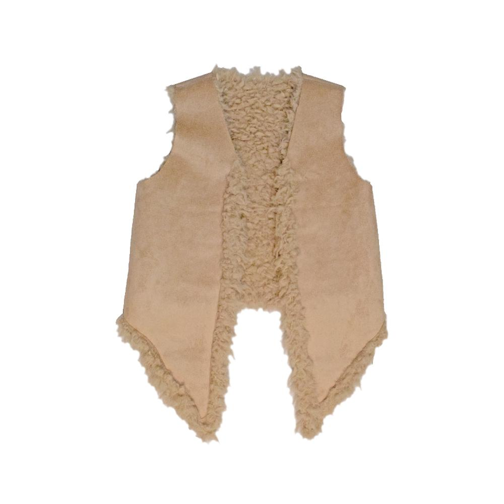 Natural Beauty Suede and Fur Vest