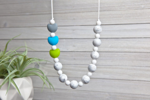 Maggie Silicone Teething Necklace - Summer Fun