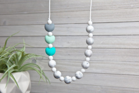 Maggie Silicone Teething Necklace - Quiet Moments