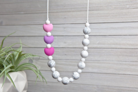 Maggie Silicone Teething Necklace - Baby Girl