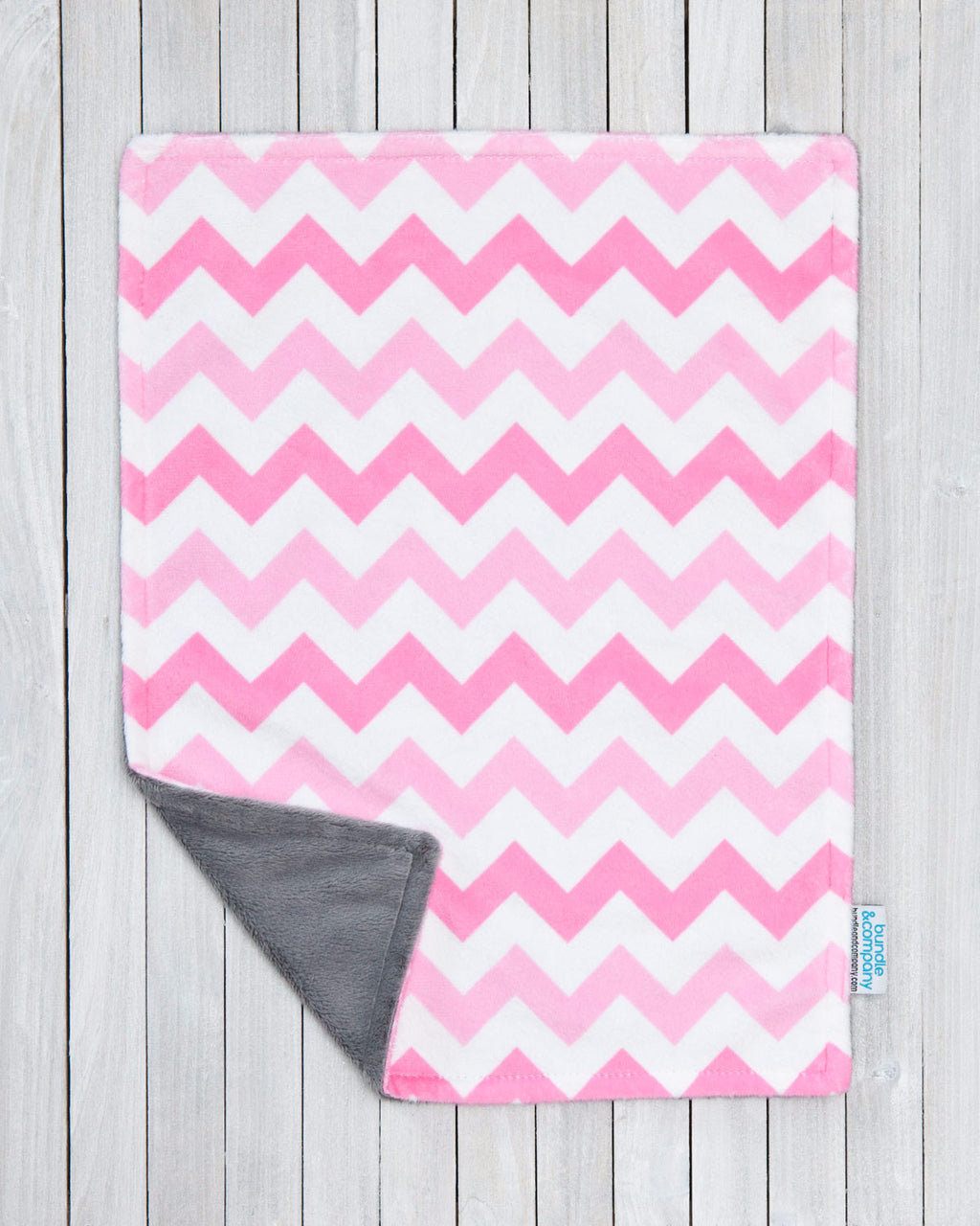 Minky Baby Snuggle Blanket - Pink Chevron